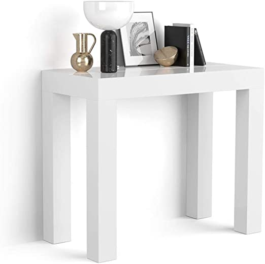 Mobili Fiver, Mesa Consola Extensible, Modelo First, Color Blanco ...
