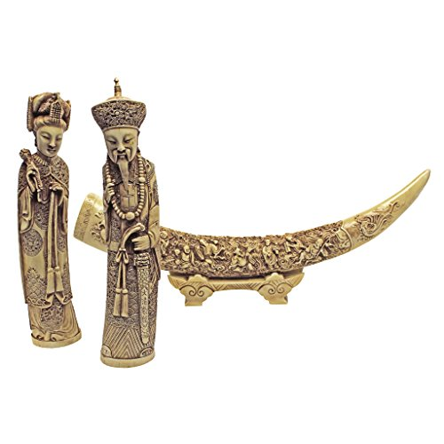 Ivory Tusk Carving (Design Toscano Mandarin Ivory)