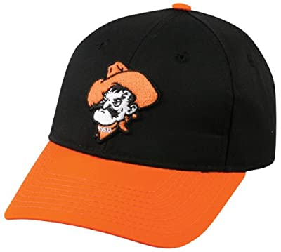 NCAA Adult OKLAHOMA STATE COWBOYS Black/Orange Hat Cap Adjustable Twill New by OC Sports - Outdoor Cap Co