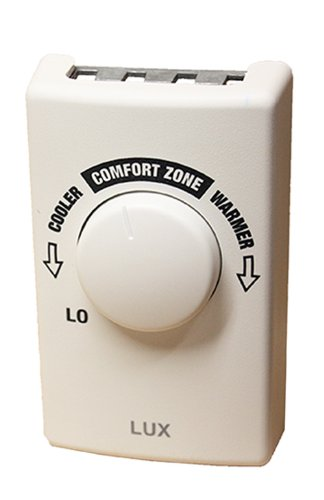 (Lux Products LV1 Line Voltage Single Pole Heat Thermostat, Sterling White)
