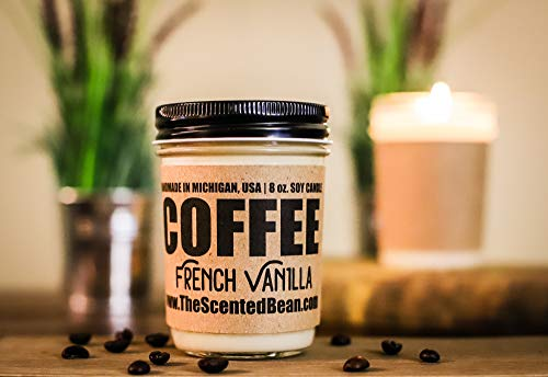 Soy French Candle Vanilla (Coffee Soy Candle - French Vanilla)