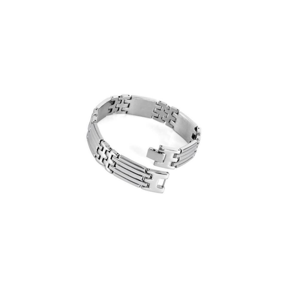 Mens Silver Stainless Steel Chain Bracelet Hand Cuff Bangle Jewelry
