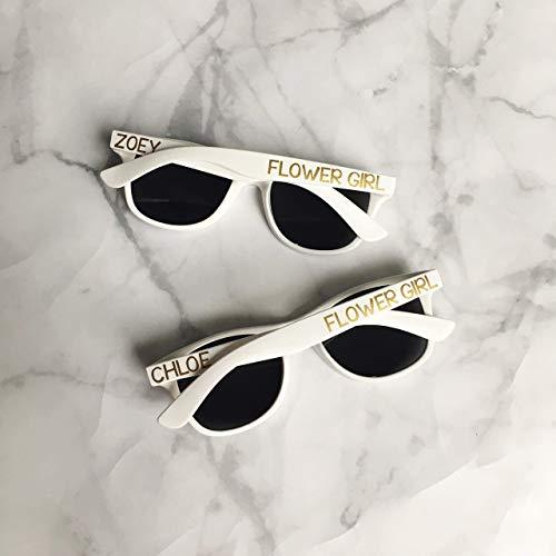 Kids Personalized Sunglasses | Flower Girl Ring Bearer - Childs Ring Flower