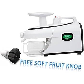 Tribest Green Star Elite GSE-5000 Jumbo Twin Gear Juice Extractor PLUS FREE SOFT FRUIT KNOB