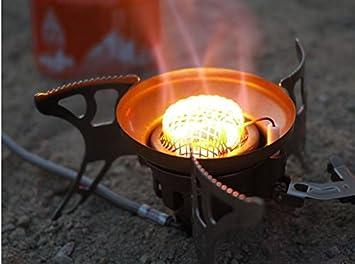 Zuwit resistente al viento gran potencia split-type al aire libre Camping Picnic quemador de