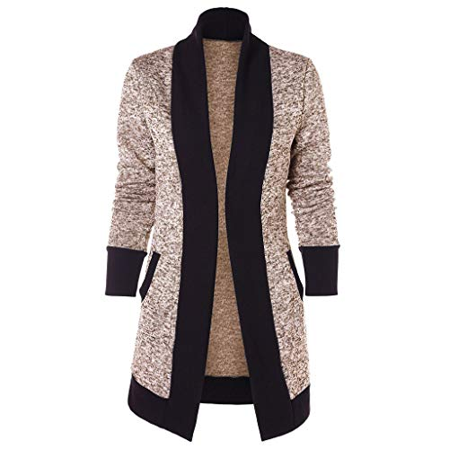 - Fashion Cardigan Londony ♥‿♥ Women's Stretch Long Gathered Sleeve Color Block Open Blazer Jacket Tops