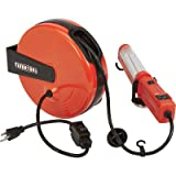 Ironton Retractable Cord Reel with Worklight - 40ft., 18/3, Fluorescent Light