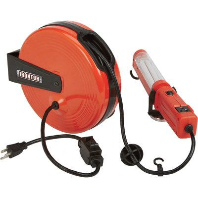Ironton Retractable Cord Reel with Worklight - 40ft., 18/3, Fluorescent Light by Ironton (Image #2)