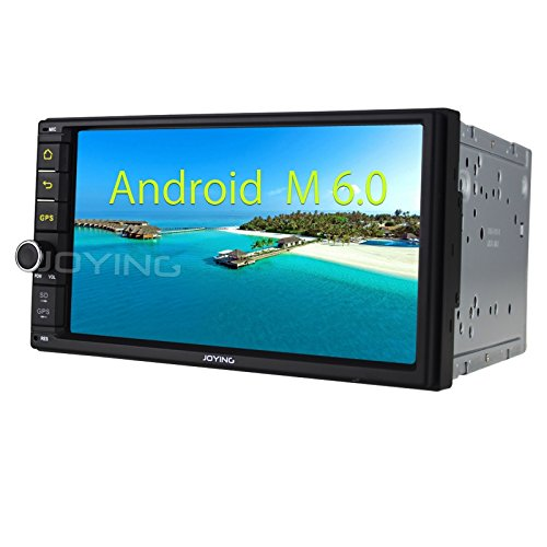 JOYING Universal Double Din 7 Inch Android 6.0 Mashmallow Head Unit Car Stereo Radio Receiver GPS Navigation Support Easy Connect Bluetooth USB RDS AM/FM