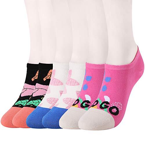 WANDER No Show Socks 7 Pack Cotton Non Slip Low Cut Invisible Loafer Socks Men&Women Boat Liner 6-9/10-12