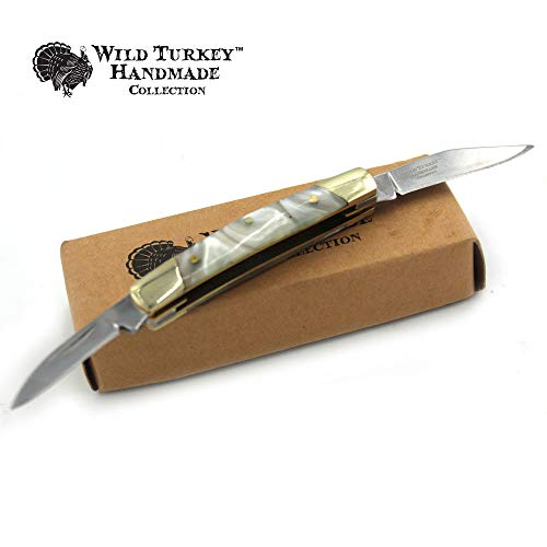 Wild Turkey Handmade Gentleman's Trapper Folding Pocket Collectors Knife EDC Slim Sleek Design.