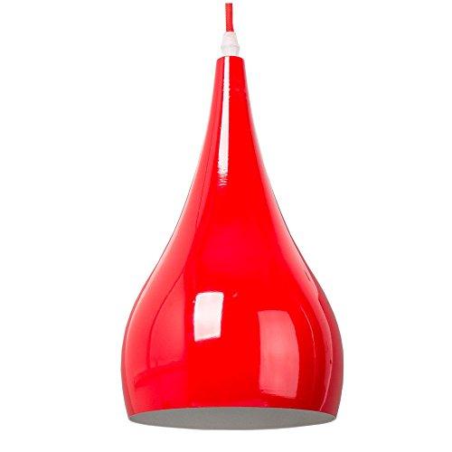 Red Aluminum Pendant Light
