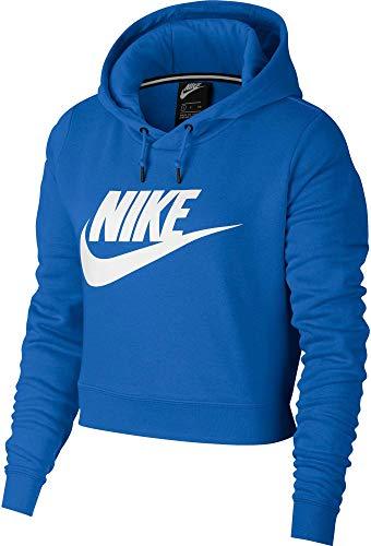 (Nike Women's Sportswear Rally Cropped Hoodie (XL, Signal Blue))