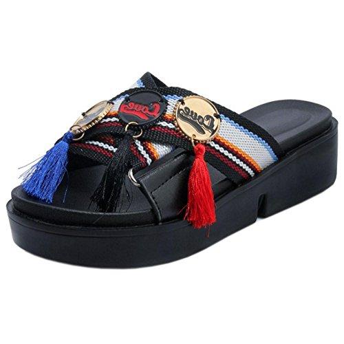 Coolcept Mujer Sin Cordones Mulas Zapatos Black-2