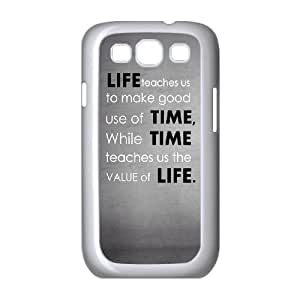 Samsung Galaxy S3 9300 Cell Phone Case White life teaches us to make good use of time JNR2204703