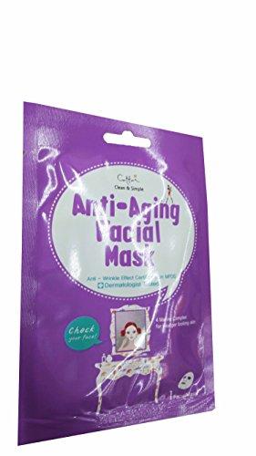 Retinol Sr Facial Treatment (5 Mask Sheets of Cettua Clean & Simple Anti-Aging Facial Mask.)