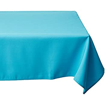 LinenTablecloth 70 Inch Square Polyester Tablecloth Turquoise