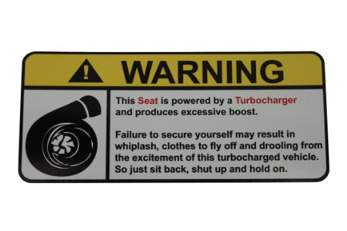 Seat Warning Turbocharger, Warning decal, sticker