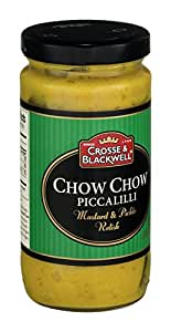 Crosse & Blackwell Relish, Chow Chow, 9.40-Ounce (Pack of 6)
