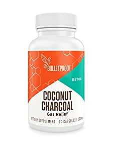 Bulletproof - Coconut Charcoal Capsule, Supports Better Digestion and Gas Relief, 90 Count