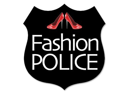 MAGNET Fashion Police Badge Shaped Magnetic Sticker (fun funny red high heels)
