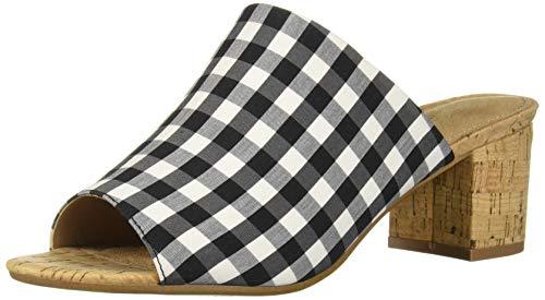 D Level Heeled Sandal, BLK WHT Combo, 9 M US ()