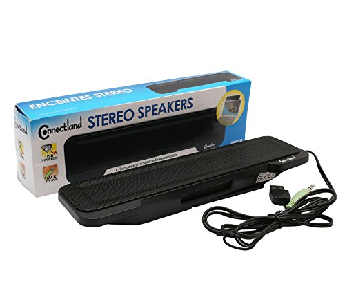 Connectland USB Powered Portable Stereo Sound Speaker Bar Mounts to Laptop Screen - CL-SPK20138 by Syba (Image #6)