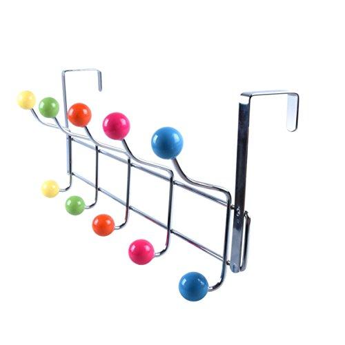 2Pcs Kitchen Iron Door Rail Single Towels Shelf Bathroom Rack Holder Bar Hangers Hook - 1