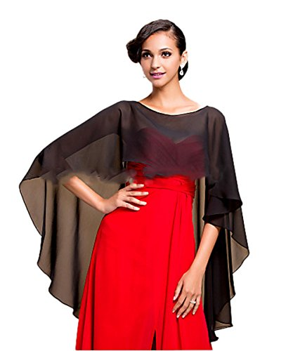 CoCoGirls Women's Bridal Soft Chiffon Shawl Long Evening Wraps For Special Occasion