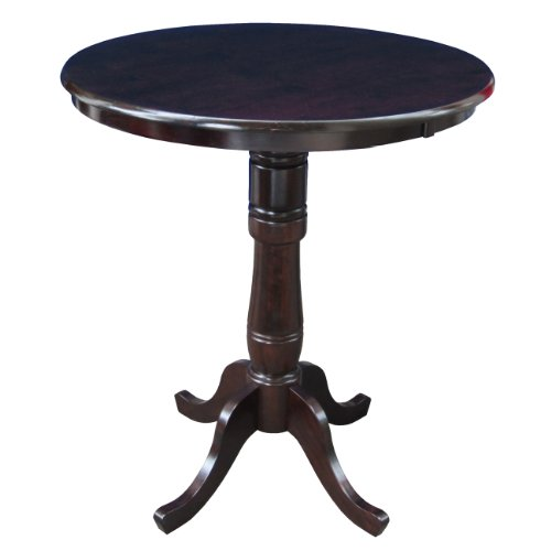 30 Pub Table (International Concepts 30-Inch Round by 42-Inch High Top Ped Table, Rich)