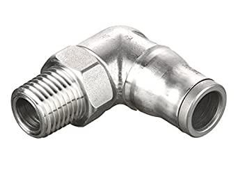5//32 1//8 Parker 169PLS-4M-2-pk10 Prestolok PLS Push-to-Connect Fitting Stainless Steel 316L Push-to-Connect and Male Pipe 90 Degree Elbow Pack of 10 316L Stainless Steel 1//8 5//32 Tube to Pipe Pack of 10