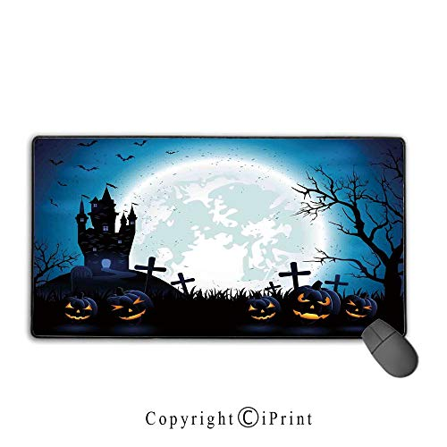 Mouse pad with Lock,Halloween Decorations,Spooky Concept with Scary