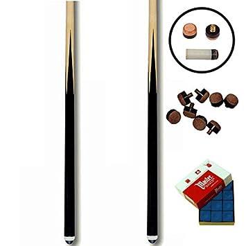 MG Juego de 2 Tacos de Billar 1. 40m +10 Suelas+tizas: Amazon.es ...