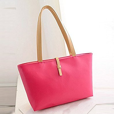 New Leather mother R women relation TOOGOO Rose handbags colored bags child bags design Shoulder PU candy Red qpwASF