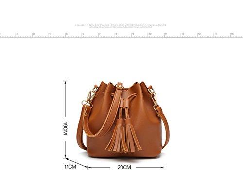 White Girl's Daily Bags Bucket Tassel Women Bag Messegner Shoulder Cute Bag Women Shoulder Leisure Party Small Women Bags xpZxFqT