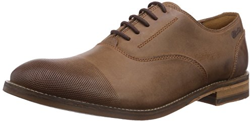 Clarks Exton Oak - zapatos con cordones de cuero hombre marrón - Braun (Tobacco Leather)