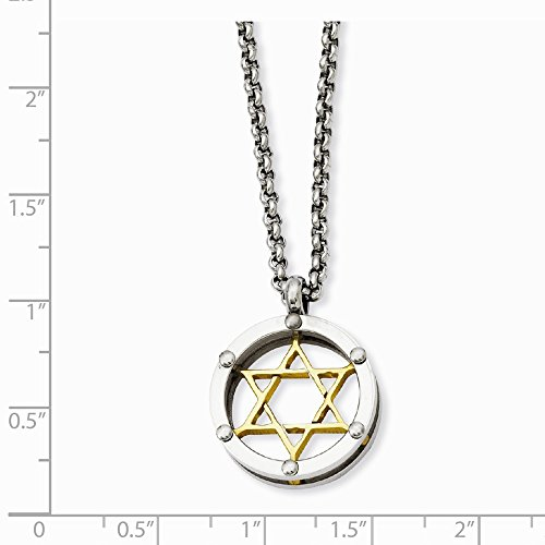 ICE CARATS Stainless Steel Gold Plated Jewish Jewelry Star Of David Chain Necklace Religious Fashion Jewelry Gift Set For Women Heart