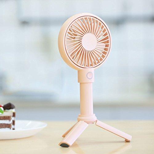 KTYX USB Fan Mini Silent Student Dormitory Rechargeable Portable fan (Color : Pink) by KTYX