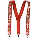 Beistle 1-Pack Candy Cane and Holly Suspenders for Party Favors