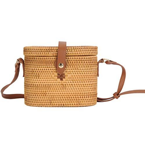Women's Bag, Rattan Bag - Medicine Box Style - Cosmetic Crossbody Bag - Travel Beach Bag - Hand-Woven Bag by BHM (Image #4)