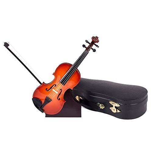 Broadway Gifts Violin Music Instrument Miniature Replica with Case - Size 7 in. by,Multicolor (American Girl Doll Violin Set)
