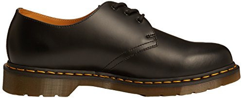 Dr. Martens 1461 Crazy Horse, Zapatos de Cordones Oxford para Hombre Negro (Black Smooth)