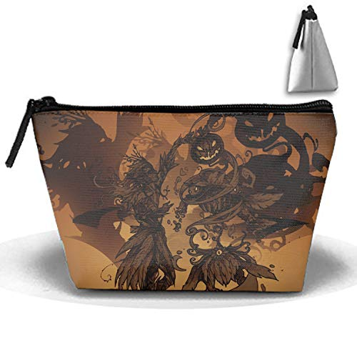 Halloween Drawing Contest Pencil Case Pen Zipper Bag Coin Organizer Makeup Costmetic Bag Pouch -
