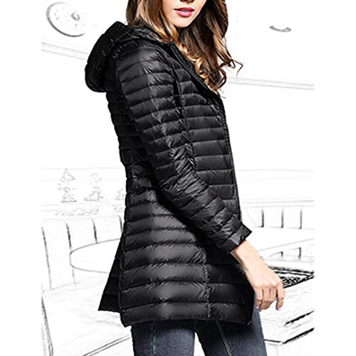 Down Hooded Jacket Black Slim Light Ultra Raylans Women's Packable Weight qE7Ag06n