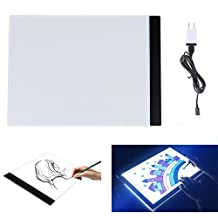 ECHI Light Box A4 Size LED Drawing Board Tattoo Pad Drawing Copy Tracing Stencil Board Table Dimmable Brightness