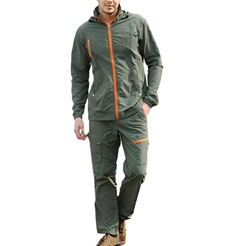 Suit Camping Multi jacket Pants 3187 Outdoor ArmyGreen color Men Hiking Clothes Casual Zhuhaitf and Premium 1f74Wq