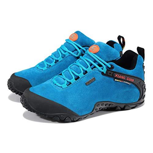 Delle Guan In Fino Trekking Sneaker Itinerante Merletto Signore Alto Impermeabili Xiang Escursioni Pattini Basso Esterno Donne Respirabili Camminare Camoscio Calzature Blu 8ExzXX