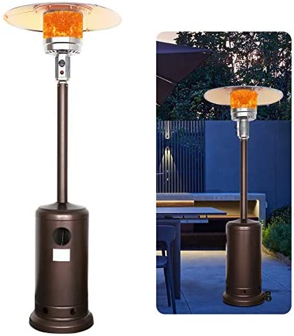 Kakashi Outdoor Patio Heater Propane Gas Heater Standing LP 48,000BTU Standing