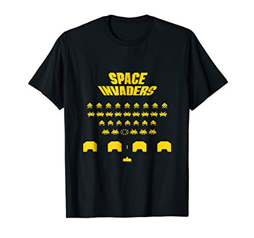 space ailen invaders t-shirt for gamer men women