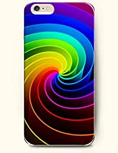 For Iphone 6 4.7 Inch Case Cover Case with of Colorful Swirls - Rainbow Color Series -Authentic Skin